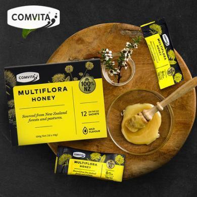 comvita康維他新西蘭進口多花種蜂蜜便攜裝10g*12條 盒裝