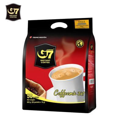 越南進口g7咖啡800g三合一濃香型50條裝速溶G7咖啡粉特濃中原正品