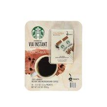 【美国】Starbucks星巴克 速溶哥伦比亚咖啡(26条装)85.8g