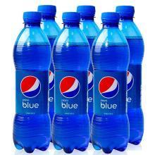 网红巴厘岛蓝色可乐450ml*5瓶装blue百事可乐梅子味碳酸饮料