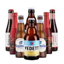 【新货到柜日期新鲜 顺丰包邮时效保障】VEDETT 白熊啤酒套装 比利时精选销啤酒礼包 330ml*4+250ml*4
