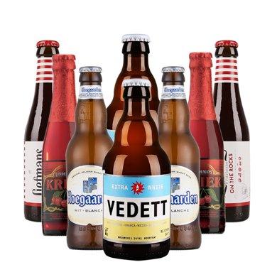 【新貨到柜日期新鮮 順豐包郵時效保障】VEDETT 白熊啤酒套裝 比利時精選銷啤酒禮包 330ml*4+250ml*4