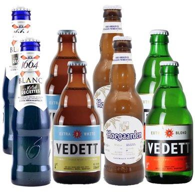 【新貨到柜 日期新鮮,男女搭配啤酒】精選啤酒組合 1664 福佳 白熊 企鵝共8瓶 330ml*8(家庭聚會套餐)
