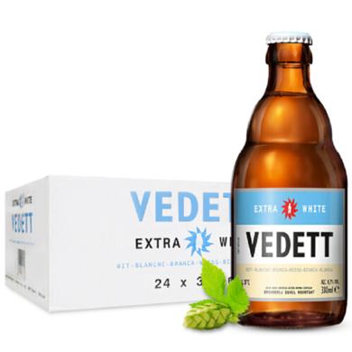【比利時大牌啤酒 整箱暢飲促銷】白熊VEDETT比利時啤酒 精釀小麥啤酒330ML*24瓶整箱暢飲盛夏 順豐包郵 時效保障!