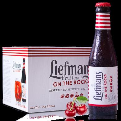 【女士喜愛比利時精釀果啤】Liefmans 樂蔓莓果啤酒 比利時進口精釀果味啤酒 250ml*24瓶整箱 順豐包郵 時效保障