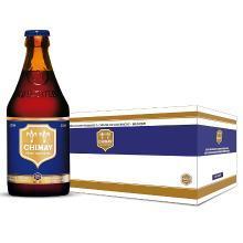 【新货到柜 夏日畅饮 顺丰包邮】智美蓝帽啤酒Chimay深色烈性艾尔 比利时原瓶修道院精酿啤酒 330ML*24 整箱装