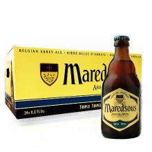 【新货到柜 比利时修道院啤酒】马里斯啤酒/Maredsous 十号 比利时原瓶进口 修道院啤酒 330ml 瓶装 马里斯10° 24支整箱