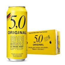 奥丁格5.0系列德国进口小麦白啤酒500ml*24听罐装原浆型口感整箱