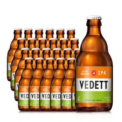 【比利時大牌啤酒 整箱暢飲促銷】VEDETT /唯星系列精釀啤酒 比利時督威同廠進口啤酒 海象 330ML*24支