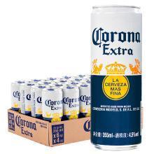 科罗娜啤酒 墨西哥进口啤酒 355ml*24听 整箱装