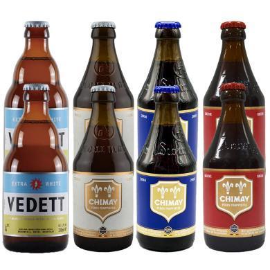 【比利時修道士精釀啤酒組合】比利時原瓶修道院精釀啤酒 智美/Chimay 紅帽+藍帽+白帽+白熊 各兩支 330ML*8支順豐包郵 時效保障