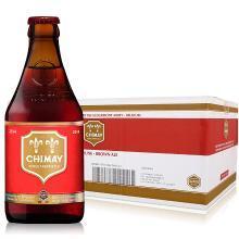 【新货到柜 夏日畅饮 顺丰包邮】比利时进口精酿修道院啤酒 CHIMAY/智美红帽双料啤酒 330ML*24整箱