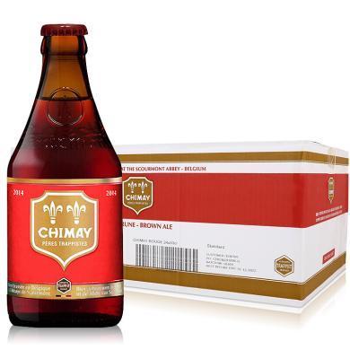 【新貨到柜 夏日暢飲 順豐包郵】比利時進口精釀修道院啤酒 CHIMAY/智美紅帽雙料啤酒 330ML*24整箱