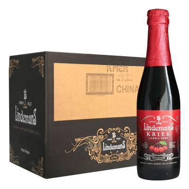 【新貨到柜 比利時精釀水果啤酒】(Lindemans)林德曼啤酒 精釀水果啤酒 250ml*24瓶 整箱 櫻桃啤酒 順豐包郵 時效保障