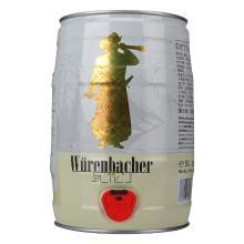 瓦伦丁(Wurenbacher)小麦白啤酒5L桶德国原装进口