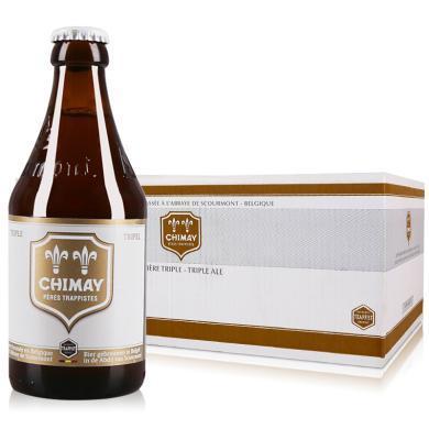 【新貨到柜 夏日暢飲 順豐包郵】比利時進口精釀修道院啤酒 CHIMAY/智美白帽三料啤酒 330ML*24整箱