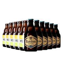 【新货到柜 日期新鲜】比利?#26412;?#37247;啤酒 三倍麦芽含量高度啤酒组合 马里斯10°330ml*6支+海象330ml*6支 12支畅饮装