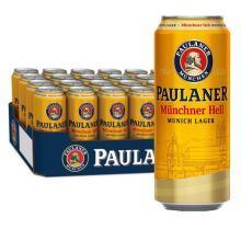 德国进口 保拉纳/柏龙(PAULANER)慕尼黑大麦啤酒500ml*24听 整箱装