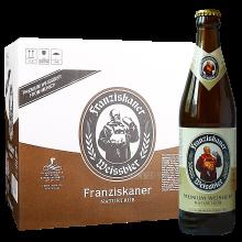 Franziskaner范佳乐?#29575;?#23567;麦白啤酒国产版 450ML*12 整箱装