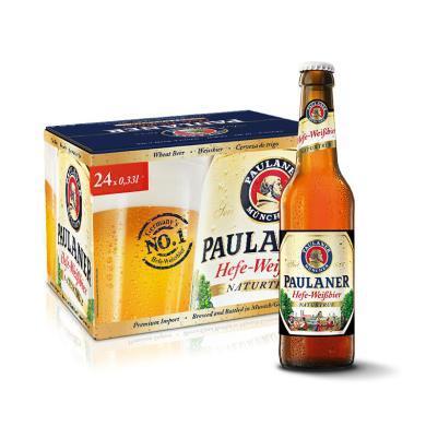 Paulaner保拉纳小麦啤酒 德国进口柏龙白啤 500ML*20 整箱装 原装精酿啤酒