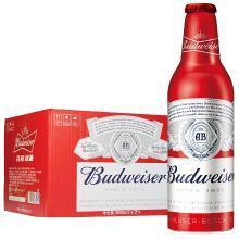 百威(Budweiser)啤酒 鋁瓶裝 小瓶 355ml*24瓶 玲瓏紅鋁罐