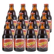 比利时进口卡?#22266;?#32418;烈性水果味啤酒 Kasteel rasteel 330ml*24?#31354;?#31665;