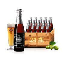 比利时进口 林?#20387;?#27861;柔黑糖拉比克啤酒 24?#31354;?#31665; lindemans Faro