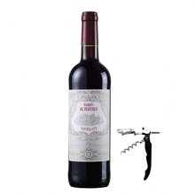 法國原瓶進口紅酒 佩爾圖斯男爵美樂干紅葡萄酒2013年750ml