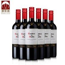 智利原瓶進口 干露紅酒 曼聯合作品牌紅魔鬼 赤霞珠葡萄酒 干紅葡萄酒 6支整箱