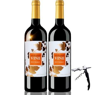 澳洲原瓶进口红酒 魔幻葡叶色拉子/西拉红葡萄酒 750ml 双支装
