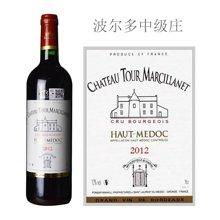 法国波尔多中级庄 玛希兰塔古堡红葡萄酒 2012年