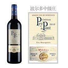 佩龐 Pey de pont 法國原瓶進口波爾多梅多克中級莊貝橋城堡AOC干紅葡萄酒 1支裝