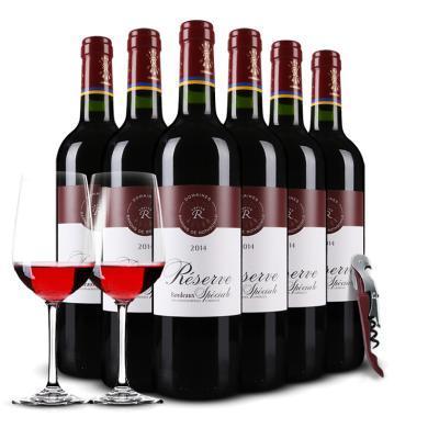 DBR法國原瓶進口紅酒 lafite 拉菲珍藏波爾多 AOC干紅葡萄酒750ml 6支整箱