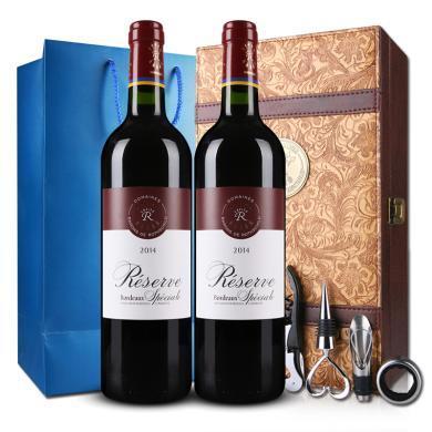 DBR法國原瓶進口紅酒 lafite 拉菲珍藏波爾多 AOC干紅葡萄酒750ml 雙支禮盒