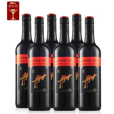 Yellow Tail 黃尾袋鼠 澳大利亞 黃尾袋鼠赤霞珠紅葡萄酒750ml(澳洲進口)(Wine)  (6支禮盒裝)