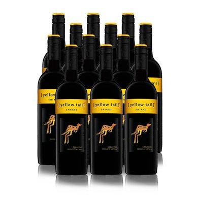 Yellow Tail 黃尾袋鼠 澳大利亞 黃尾袋鼠西拉葡萄酒750ml(澳洲進口)(12支)