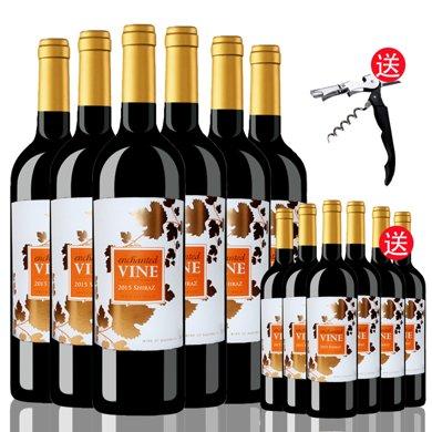 澳洲原瓶進口紅酒 魔幻葡葉西拉紅葡萄酒 750ml 六支整箱 聚會宴席佳選
