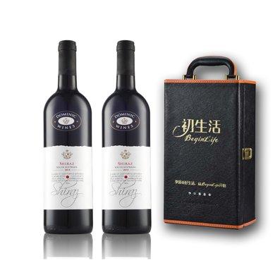 【澳洲名酒】貴族 澳洲進口 貴族干紅葡萄酒 750ml … (2支皮盒裝)