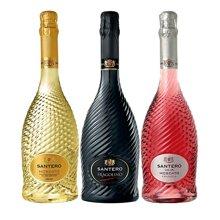 【包邮】意大利进口 圣丹露起泡香梨味+草莓味葡萄酒系列三支 750ml*3