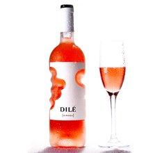 【包邮】意大利进口 dile上帝之手帝力桃红rosa葡萄酒750ml