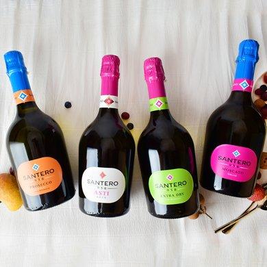 【包郵】意大利進口 958圣特羅起泡葡萄酒系列繽紛四支 蝴蝶瓶750ml*4