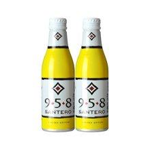 【包邮】意大利进口 小支圣丹露958白起泡葡萄酒双支 黄色铝瓶250ml*2
