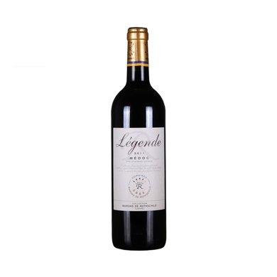 【法國進口】系出名門 拉菲傳奇干紅葡萄酒 波爾多 經典拉菲750ml