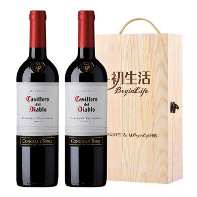 【世界名莊】紅魔鬼 紅魔鬼赤霞珠干紅葡萄酒 750ml … (雙支木盒)