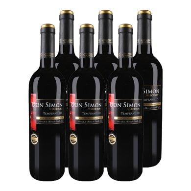 西班牙原瓶原箱进口 唐门.威赛帝斯干红葡萄酒750ml (6支)