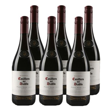 Casillero del Diablo 紅魔鬼 黑皮諾紅葡萄酒750ml*6瓶(智利進口紅酒) … (6支)