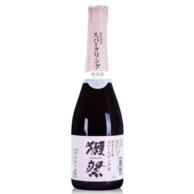 【清酒】獭祭 日本原装进口洋酒 日式清酒 纯米大吟酿 獭祭起泡清酒 360ml 14%VOL