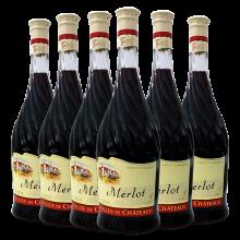 摩尔多瓦原瓶进口红酒 万德古堡?#20223;?#32418;葡萄酒原瓶进口750mlx6 整箱装