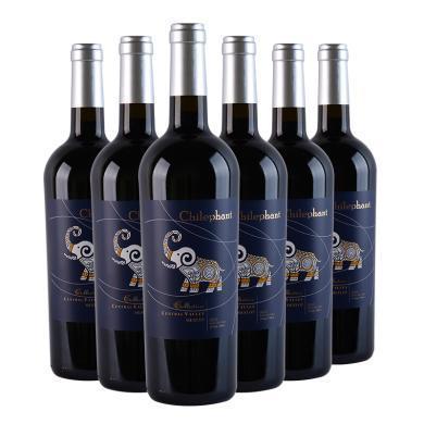 智利進口紅酒 智象窖藏美露干紅葡萄酒750ml*6瓶 整箱裝