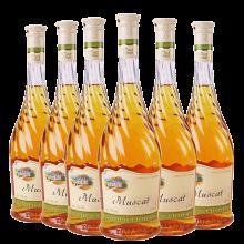 原瓶进口红酒 万德古堡慕斯卡甜白葡萄酒原瓶进口750mlX6 整箱装